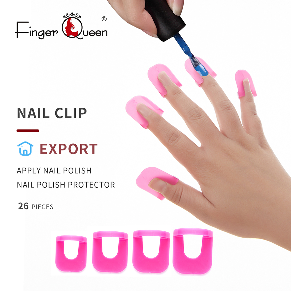 Spill-Proof Manicure Protector Tools Reusable Soft Plastic Nail Polish Stencil 26Pcs 10 Sizes