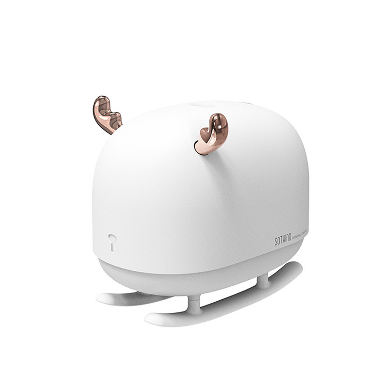 New Sleigh Deer Humidifier Ultrasonic Mute Bedroom Aroma Diffuser 260ml USB Mini Essential Oil Diffuser