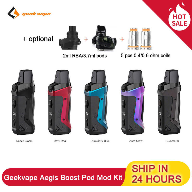 Geekvape Aegis Boost Kit Pod System 1500mah Built-In Battery 40W With 3.7ml Cartridge MTL DTL E Cigs Vape Kit VS VOOPOO Vinci