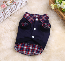 Gentleman Fashion Pet Clothes Small Dress Cotton Sweater POLO Shirt Fake Two Dog Cat Supplies 1pcs