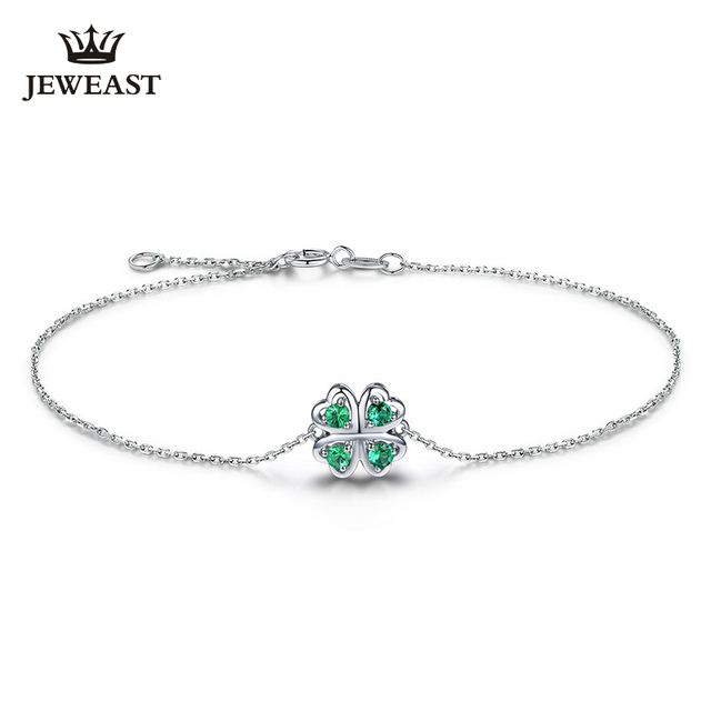 MLZB Natural Emerald 18k Pure Gold Female Bracelets Fine Jewelry  Gift Girl Thin Trendy Solid 750 Real Bangle Party Good Nice 1