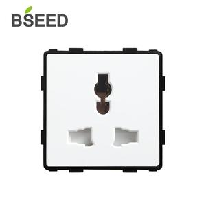 BSEED Universal standard Function Key Socket DIY Parts White Plastic Materials For Multifunction Wall Socket Insert