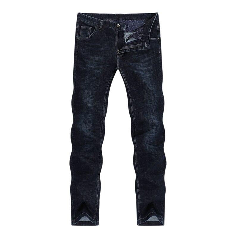 KSTUN Classic Jeans Men in Winter Navy Blue Elastic Straight Regular Fit Business Casual Denim Pants Long Trousers Men's Clothing Jean 11