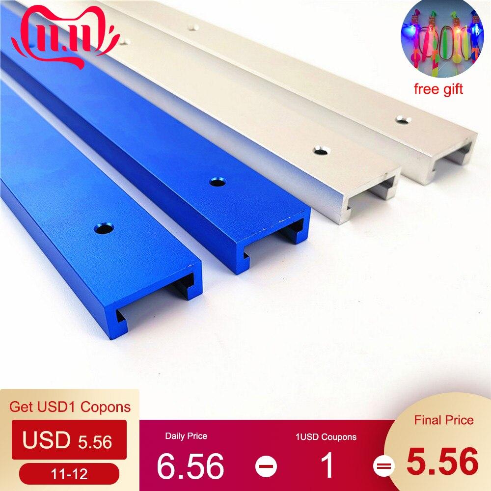 T-track Slot Miter Track T Screw T Slider 30 45 Model Aluminium Alloy Fixture For Pressure Woodworking 300 400 500 600 800 MM