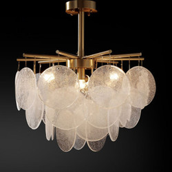 Postmodernistyczne matowe szkło LED żyrandol sypialnia wiszące lampy jadalnia oprawy światła luksusowe oświetlenie do salonu w Wiszące lampki od Lampy i oświetlenie na