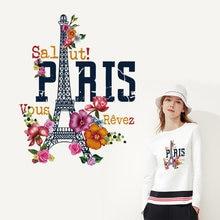 Красочные патчи с изображением Парижской башни термоклейкие