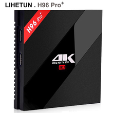 Orignial H96 pro plus Android 7.1 TV Box 2GB 3GB 16GB 32GB Amlogic S912 Octa Core 2.4G 5.8G WiFi H.265 4K Smart TVbox H96Pro +