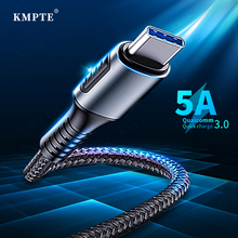 KMPTE 5A USB Type C Cable Supercharge For Huawei Mate 20 P30 P20 Pro Fast Charging USB-C Phone Cord For Samsung Xiaomi USBC Cabo