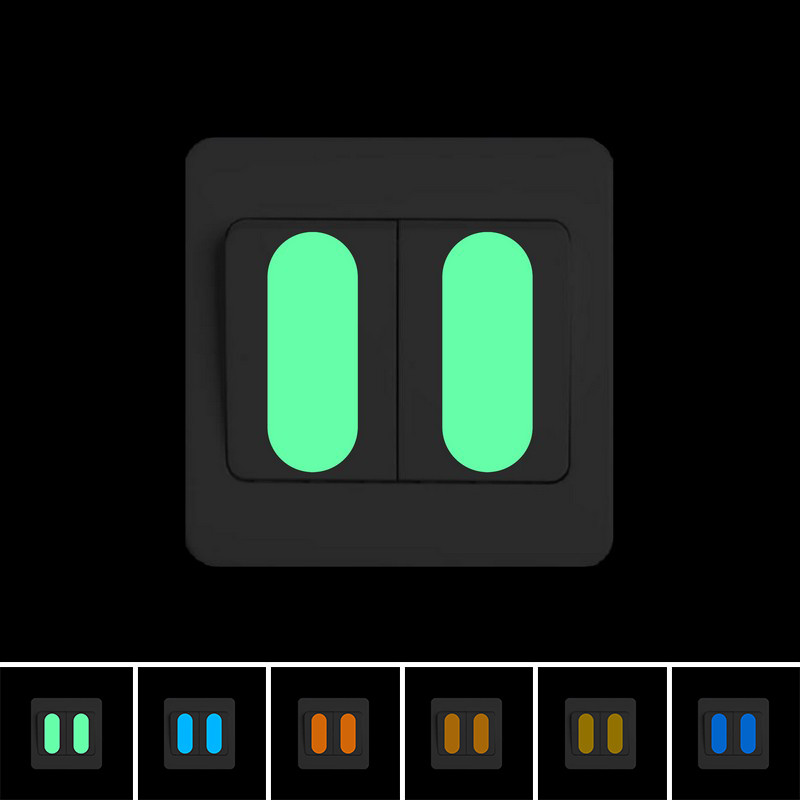 Glow In The Dark Switch Panel Button Sticker DIY Luminous Indicating Strip Night Light Wall Decorative Sticker Home Decor Decal