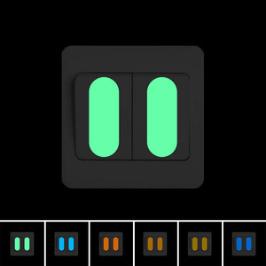 Glow in the Dark Switch Panel Button Sticker DIY Luminous Indicating Strip Night Light Wall Decorative Sticker Home Decor Decal(China)