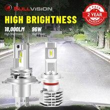 BULLVISION H7 LED 헤드 라이트 18000LM H11 H4 H8 H9 9005 9006 HB3 HB4 4300K 6000K 8000K 듀얼 빔 하이/로우 빔 CSP 칩 자동차 조명