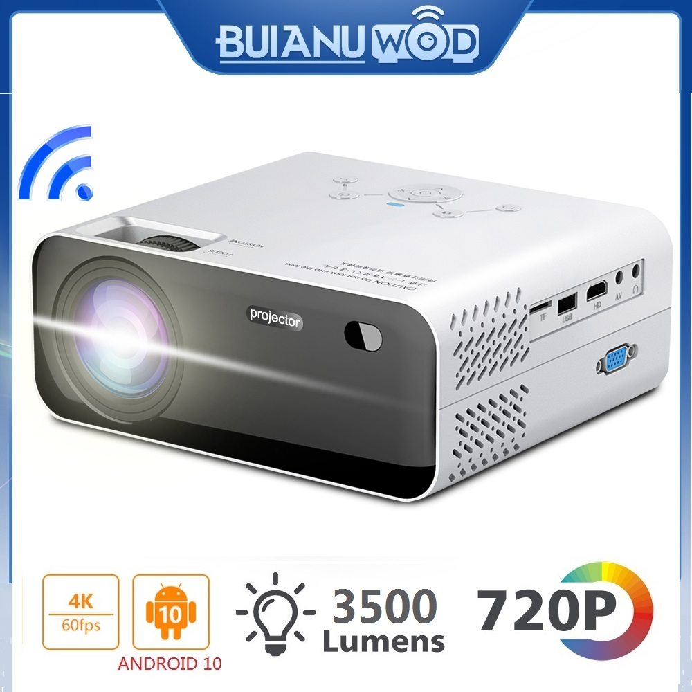 Светодиодный проектор BUIANUWOD E450, 3500 люмен, Android, Wi-Fi, HDMI, поддержка 1080P, Full HD, домашний кинотеатр, встроенный Hi-Fi динамик, Bluetooth