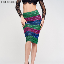 Womens Skirts Multicolor Sequined Skirt Pencil Skirt Short Wrap Skirt For Office Lady Party Girl Saia 2019 newly fashion droppshiping womens office skirt casual skirt pencil skirt ol skirt office wear bfj55