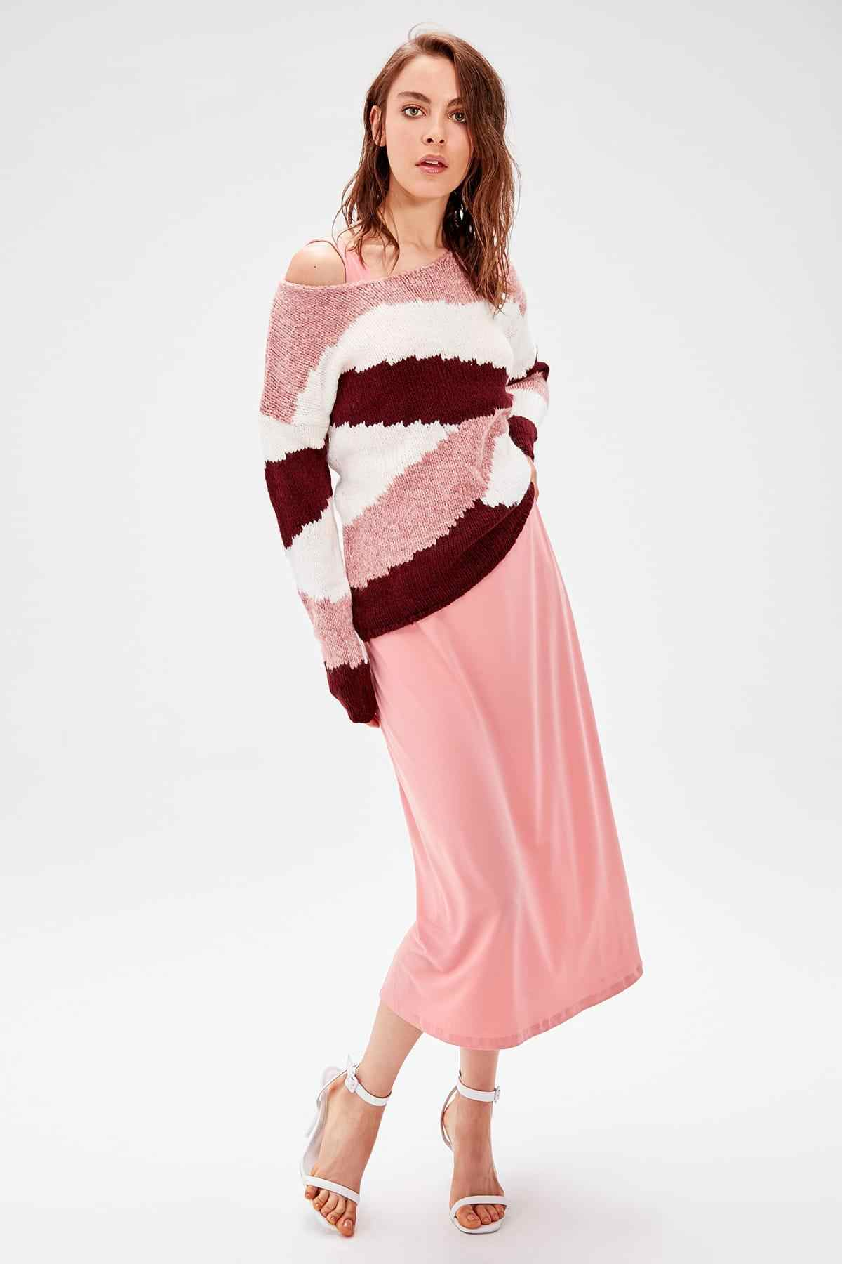 Trendyol Color Rose Color Block Sweater Pullover TWOAW20KZ0257