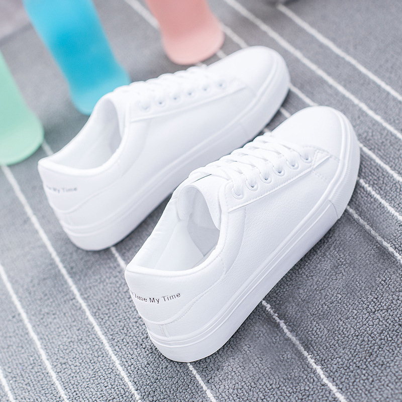Spring 2020 New Versatile Little White Shoes For Girls' Korean Version Of Student Running Shoes For Girls' Elevated Ca