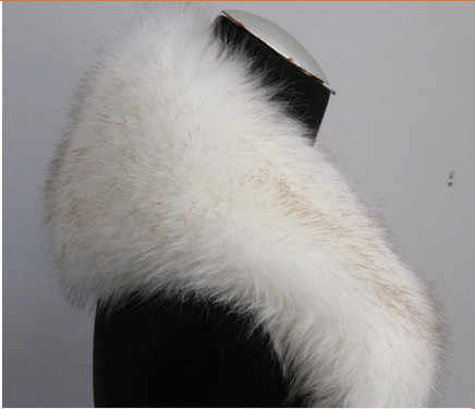 2019 Dell'annata di Inverno Delle Donne di Buona Qualità Panno Formale D'epoca di Charme collo di Pelliccia di Volpe Femminile di Lusso Sciarpe Anello di Pelliccia di Stile V622