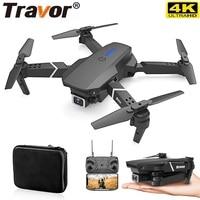 TRAVOR Mini Drone Quadrocopter Flügel Faltbare Drohne HD 4K Kamera Objektiv Fernbedienung Flugzeug Luft Für Fotografie Video Schießen