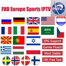 MITVPRO android tv box IPTV subscription Europe france itala