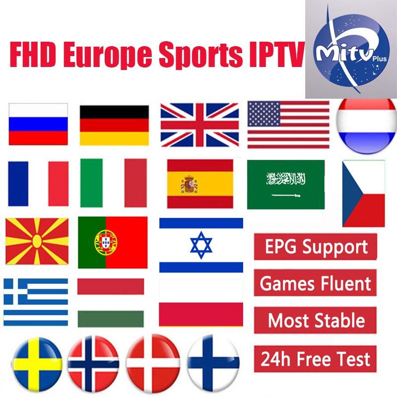 MITVPRO Android Tv Box IPTV Subscription Europe French Italain Polish UK Germany Arabic Iptv Code Sports Adults Channel