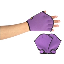 1 pair Water Swimming Surfing Diving Webbed Paddle Gloves Swim Training Water Aerobics Resistance Gloves