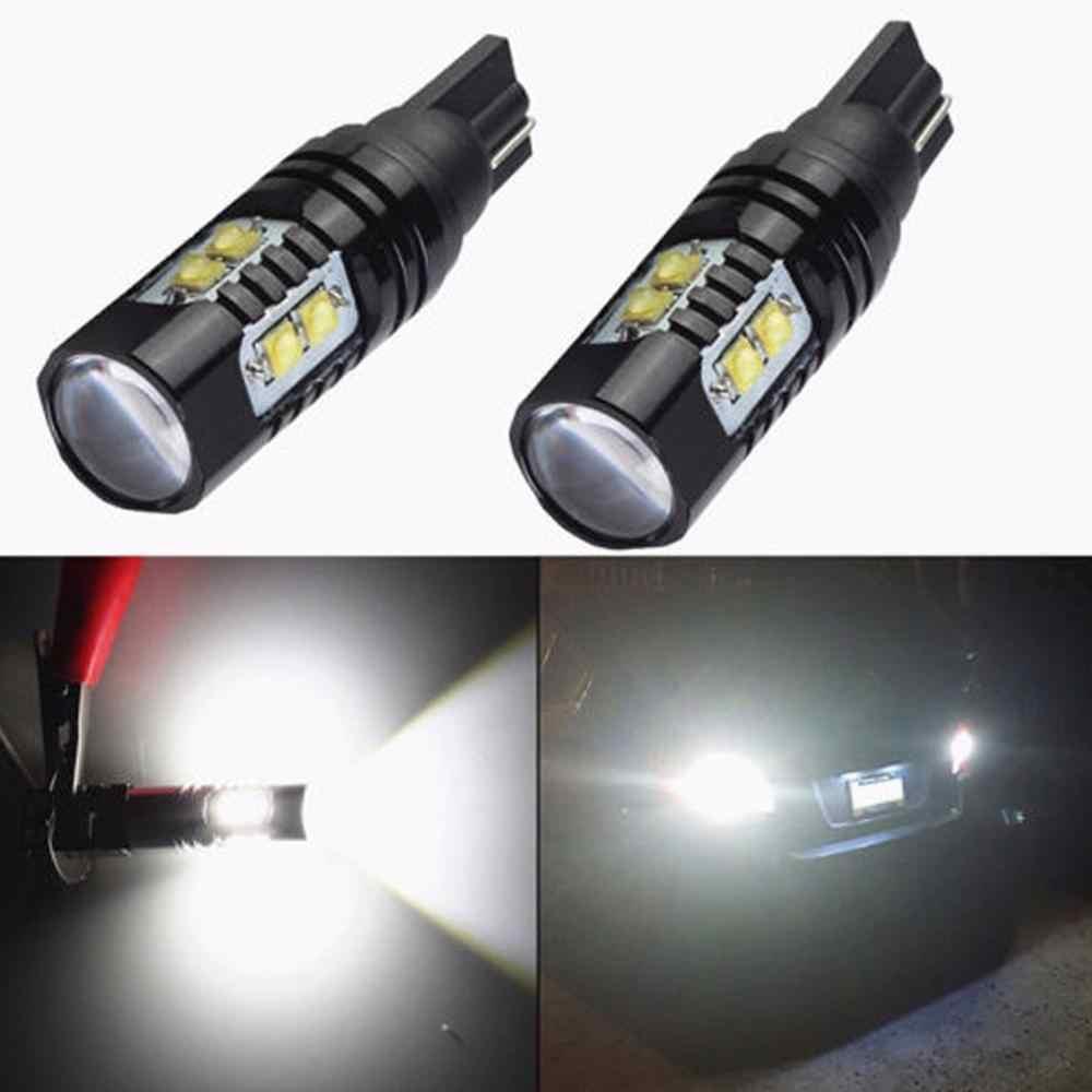 2 sztuk 50W 921 912 T10 T15 LED 6000K HID biały dodatkowe światła cofania żarówka mgła lampa 6000K 12 V-24 V samochodowe światła sygnałowe 700LM