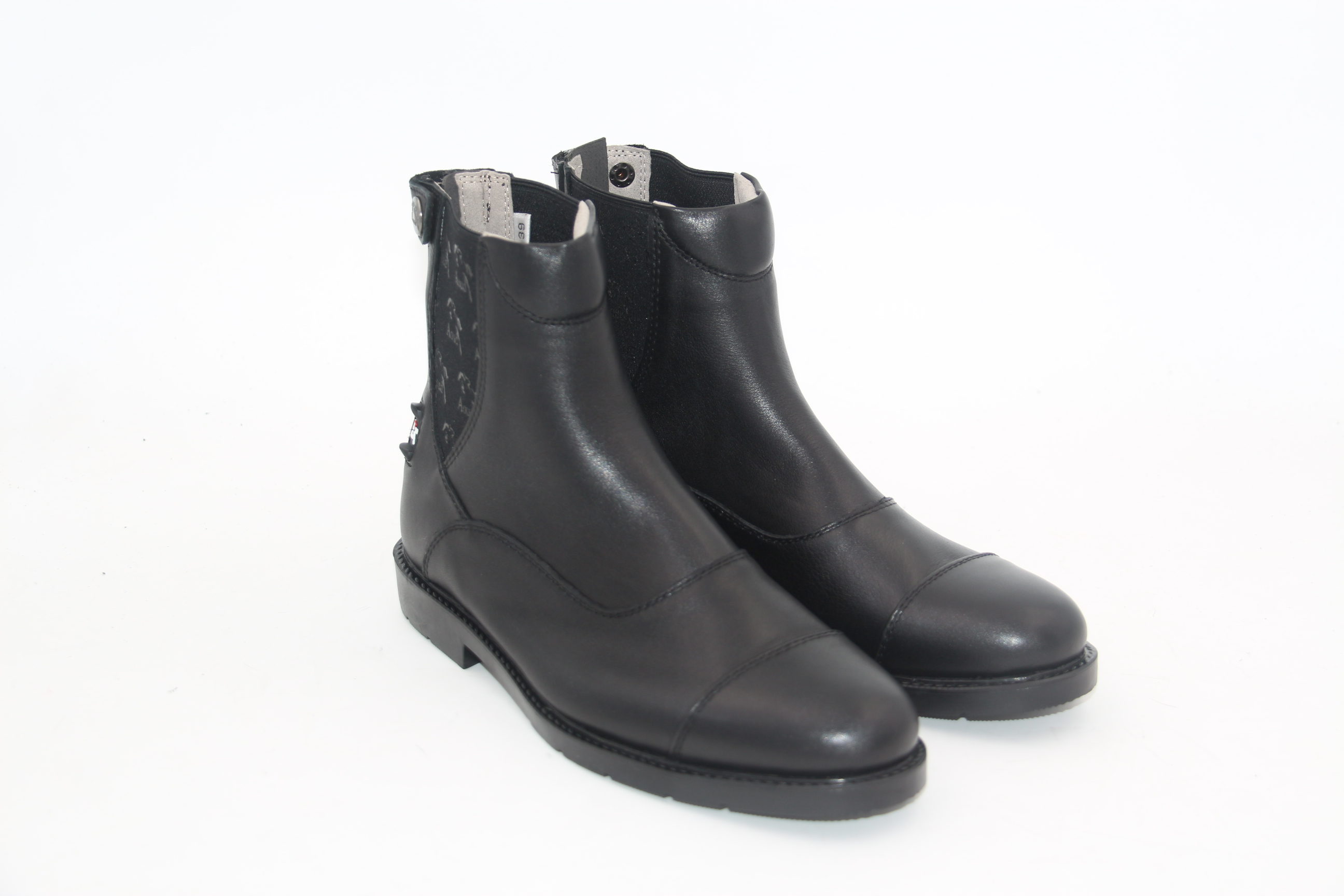 Aoud Saddley Horse Riding Boots Full Leather Equestrian Boots High Quality Back Zipper Shoes For Men Women And Children