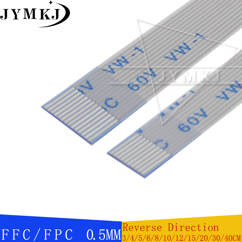 10PCS FPC/FFC AWM 20624 80C 60V VW-1 Ribbon Flexible Flat Cable 0.5MM Pitch With 4 6 8 10 12 - 60 Pin Length Reverse Direction