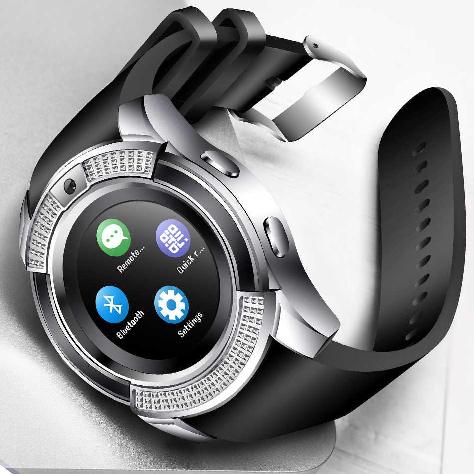 Reloj de pulsera inteligente para hombres y mujeres compatible con cámara Bluetooth SIM tarjeta TF reloj inteligente para teléfono Android pareja reloj + caja PK y1