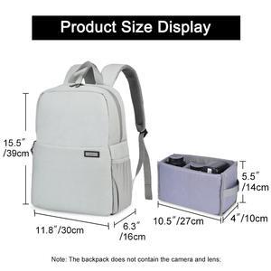Image 3 - CADeN Dslr borsa per fotocamera zaino impermeabile spalla Laptop fotocamera digitale obiettivo fotografia borse per bagagli custodia per Canon Nikon Sony