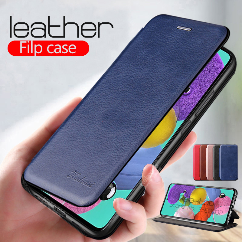 Leather Flip Case For Samsung A51 2019 Stand Book Phone Cover Sumsung A71 A715F A515F A 71 51 Magnetic Card Wallet Coque Funda