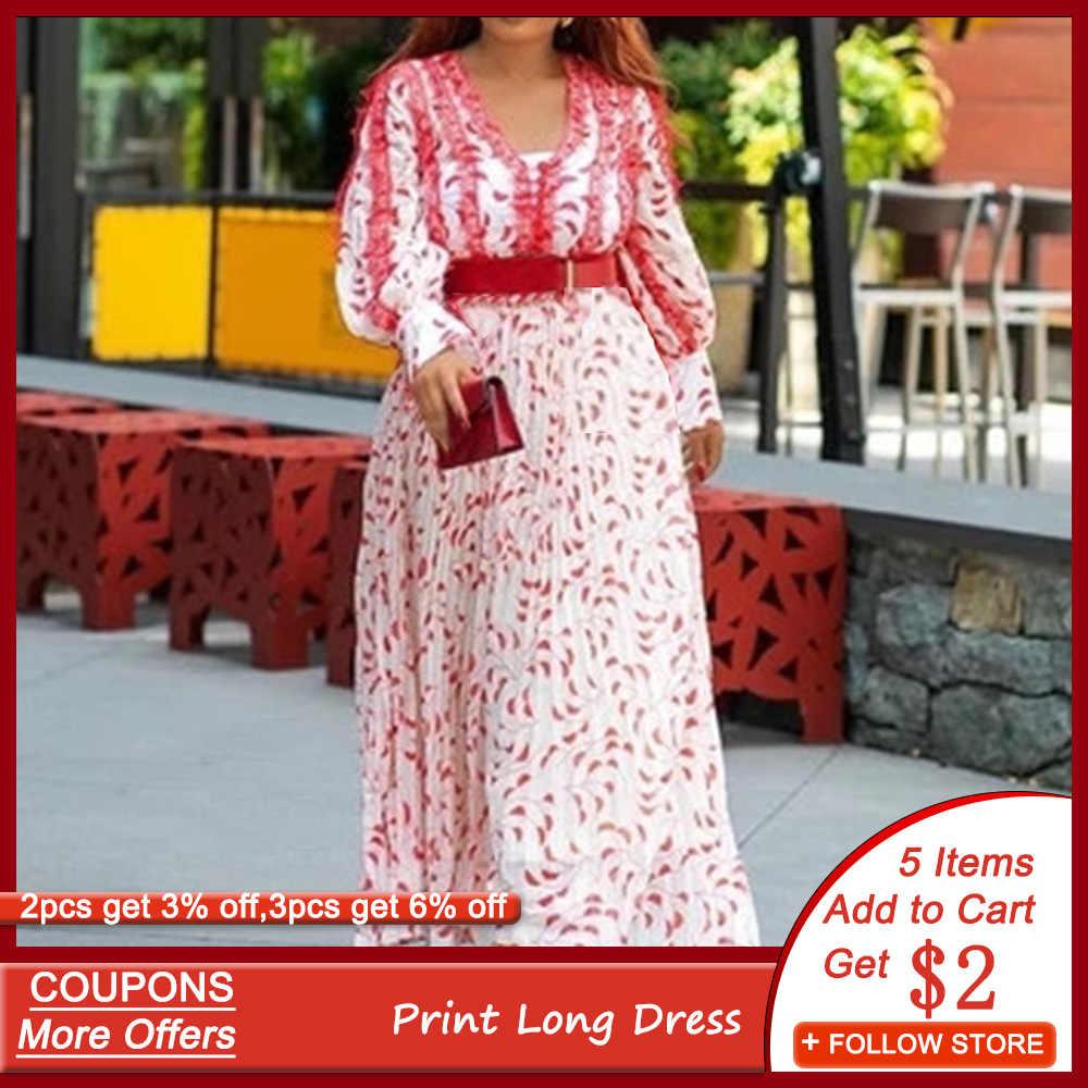 שיפוע ארוך ערב מסיבת שמלת אופנה אפריקאי שור שרוול אונליין עטוף אלגנטי נשים שמלה בתוספת גודל robe דה soiree