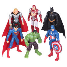 Disney Marvel teléfono vengadores Infinity War Thanos figura de acción estatua juguete 6 unids/set funda Iron Man Hulk Capitán América Superman(China)