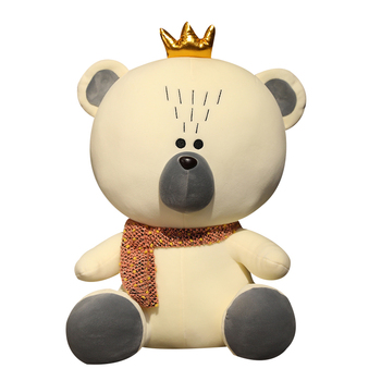 New Huggable Cute Bear Plush Toys Stuffed Animal Crown Doll Soft Pillow Kawaii Teddy Bear Toys for Children Girls Birthday Gift 21cm cute teddy bear doll soft plush toys stuffed animal small bear plush doll children toy girls ragdoll gifts