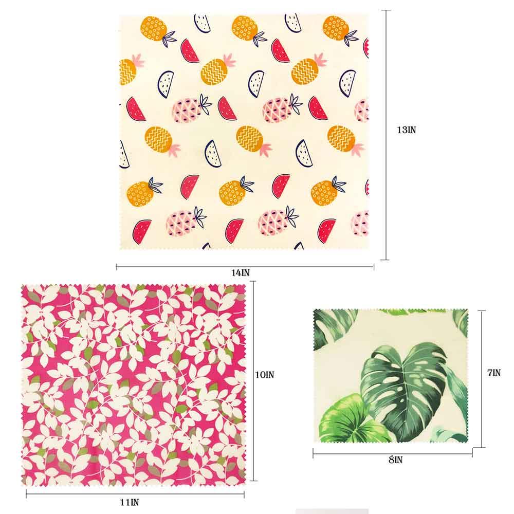 Визуальный сенсорный ладонь органический пчелиный воск ткань сэндвич пакет свежего хранения мешок крышка пищевая пчелиный воск обертывание стрейч уплотнение - Цвет: Pink mixed