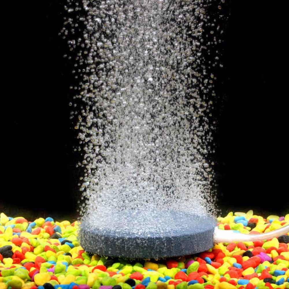 40mm balık tankı hava kabarcık taş akvaryum havalandırıcı gölet pompası hava taş kabarcık Disk akvaryum hava pompası hidroponik oksijen plaka