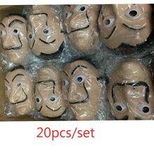 wholesale 20pcs/lot Plastic Dali mask La Casa De Papel Cosplay Props Halloween Yacht Carnival Dance Party Face Shield