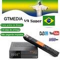 GTMedia V9 Супер Спутниковый приемник DVB-S2/S HD H.265 встроенный WiFi + 1 год Европа Cccam Freesat V8 супер рецептор из Бразилии