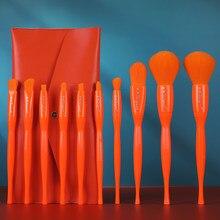 2020 nuovo Set di pennelli per trucco Color caramella da 10 pezzi con borsa fondotinta in polvere ombretto arrossisce Kit di strumenti per il trucco