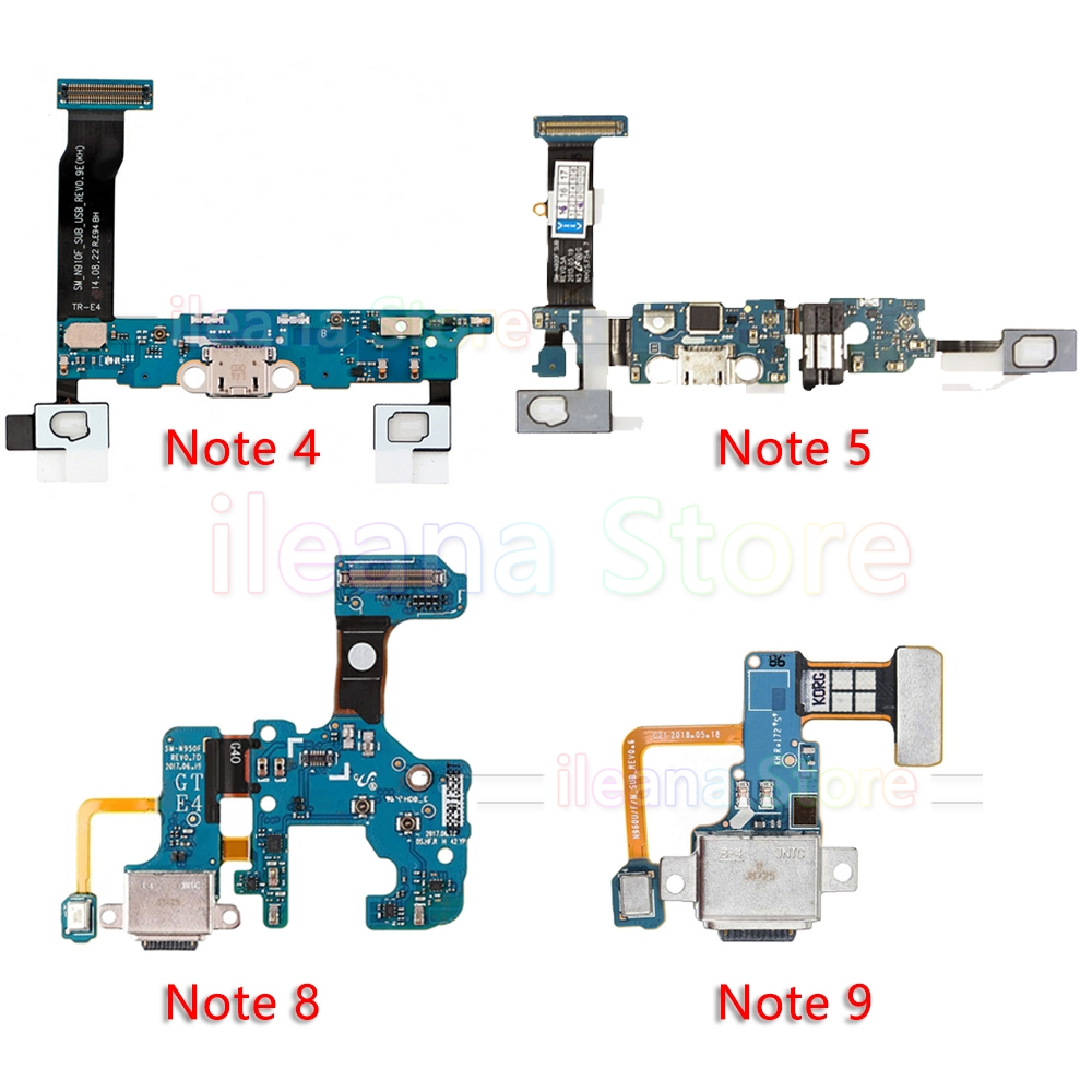 Original USB Port Charger Dock Connector Charging Flex Cable For Samsung Galaxy Note 4 5 8 9 N910F N920F N950F N960F Replacement