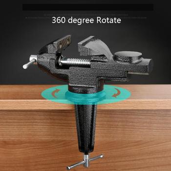 Imadło stołowe imadło imadło stołowe imadło stołowe imadło stołowe 360 stopni podstawa z połączeniem obrotowym odlewany stół żeliwny górny zacisk imadło z kowadłem tanie i dobre opinie CN (pochodzenie) manual YZ284 IMADŁO