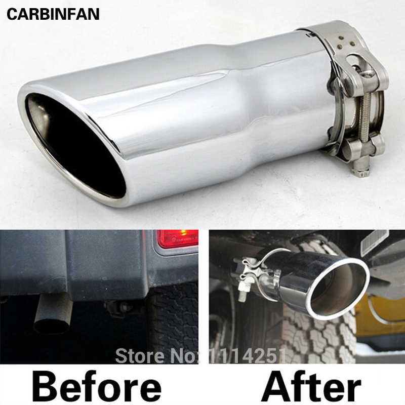 stainless steel exhaust tip pipes education pipe muffler for jeep wrangler jk 2007 2008 2009 2010 2011 2012 2013 2014
