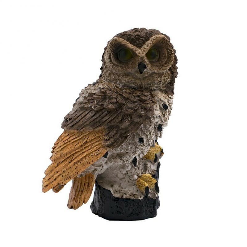 Solar Garden Lights Novelty Owl Ornament Animal Bird Outdoor LED Decor Sculpture