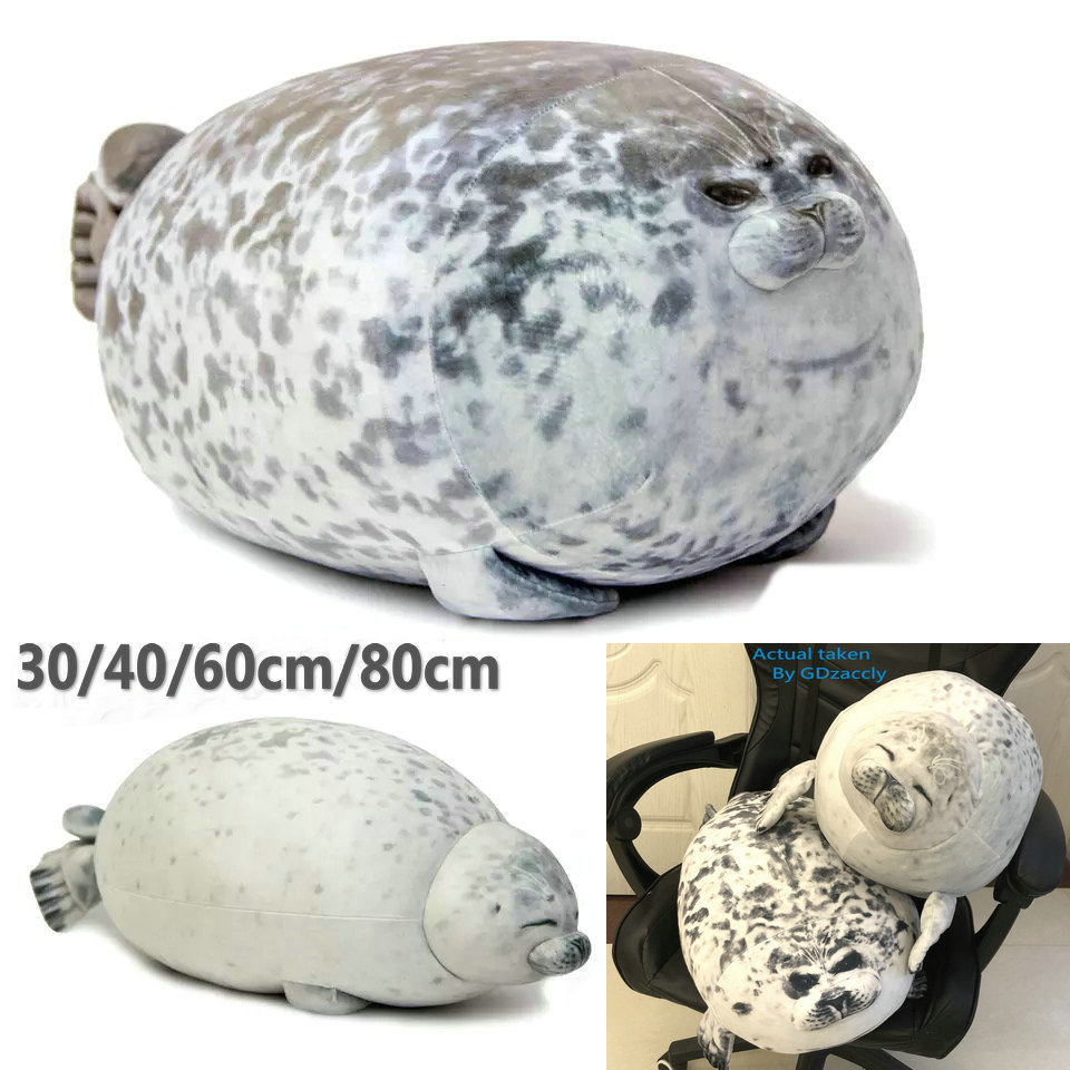 3D Novelty Seal Plush Toys Sea Lion Stuffed Throw Pillow Soft Seal Plush Party Hold Pillow Baby Sleeping Pillow Chair Cushion