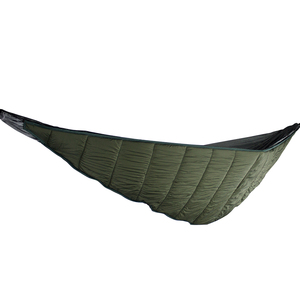 À prova de vento ao ar livre hammock pendurado viagem algodão dobrável engrossar portátil underquilt adulto acampamento caminhadas inverno quente dormir -