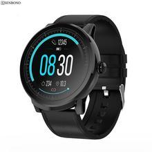 SENBONO S10 PRO spor tam ekran dokunmatik akıllı saat erkekler kadınlar saat nabız monitörü Smartwatch spor izci saat bilezik