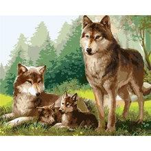 Собака масляные краски по номерам животных Акриловая картина