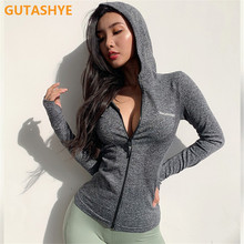 Hoodies Sportwear Yoga-Coat Motion-Clothes Running-Jacket Fitness Long-Sleeve Zipper