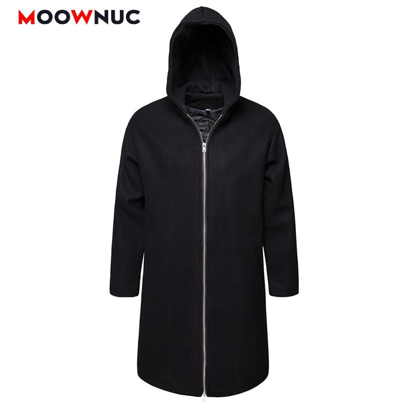 Men   Trench   Windbreaker Hats New Solid Fashion Long   Trench   Coats Hombre Overcoat Jackets Classic Masculino WOllen Autumn MOOWNUC