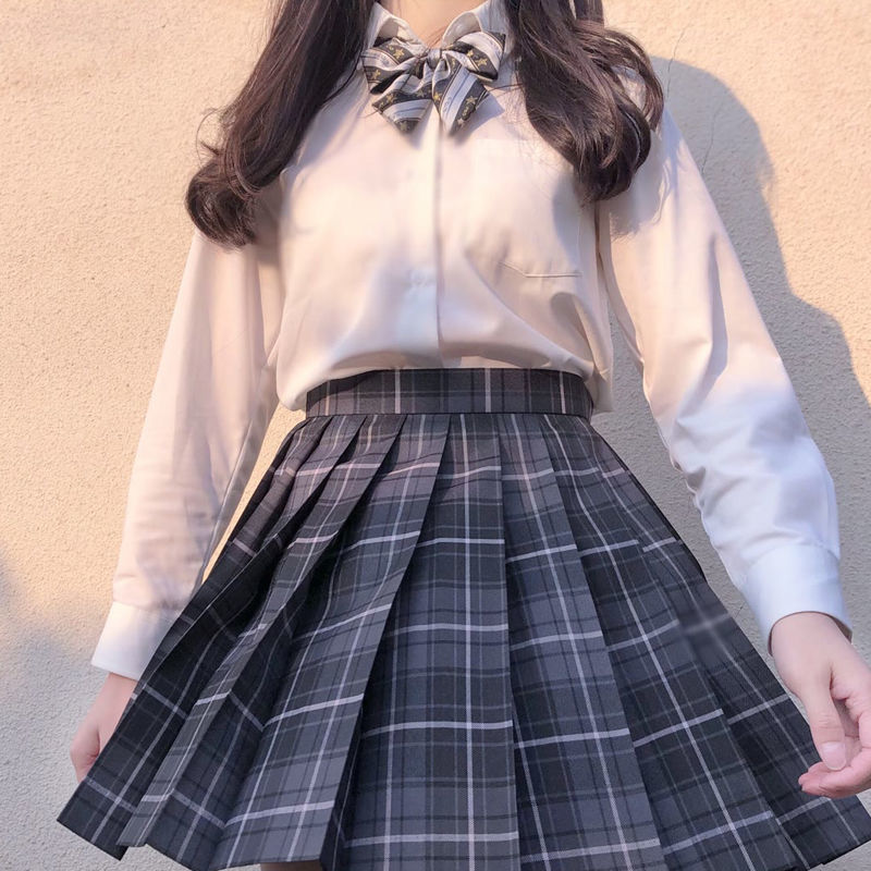 2020 Summer Korean High Waist Pleated Skirts Black Gothic Sexy Cute Mini Plaid Skirt Women JK Uniform Students Clothes Y2K 90S 1
