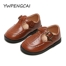YWPENGCAI 2020 Spring Autumn Girls Leather Shoes School Perf